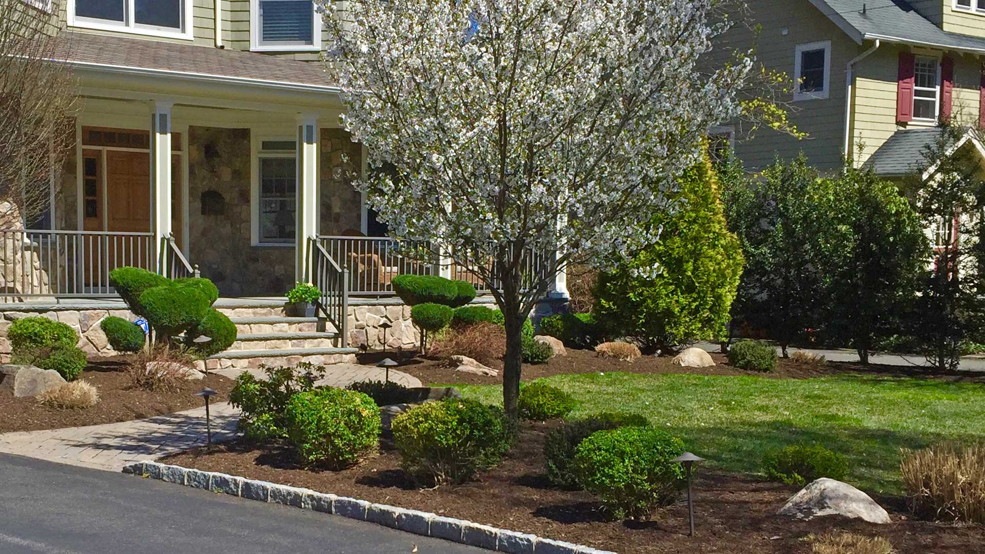 Lawn and landscaping in Scotch Plains, NJ.