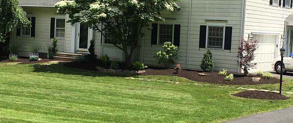 Properly done weed control for a home in Scotch Plains, NJ by Greenscapes Landscape Management.